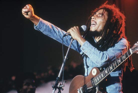 Bob Marley Performing Live.